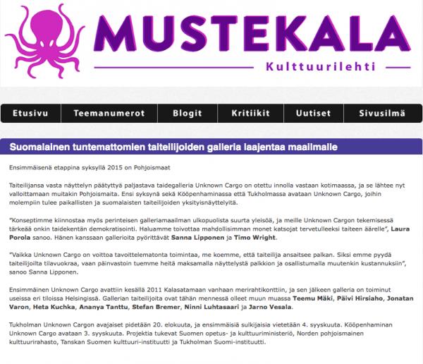 Mustekala: Suomalainen tuntemattomien taiteilijoiden galleria laajentaa maailmalle